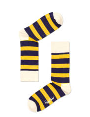 Happy Socks Striped Yellow And Blue