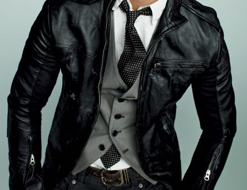 Leather Jacket Over Suit