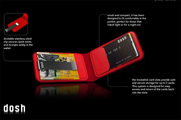 dosh 3 card wallet
