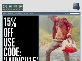 Gere Menswear Coupon Code -15% Off